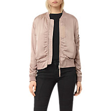 Buy AllSaints Kuma Bomber Jacket, Dusty Pink Online at johnlewis.com