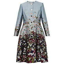 Buy Ted Baker Feelo Jacquard Coat, Dark Blue Online at johnlewis.com