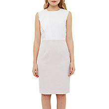 Buy Ted Baker Illiidd Frill Texture Pencil Dress, Lilac Online at johnlewis.com