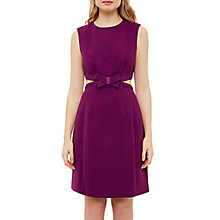 Buy Ted Baker Jaycee Cut Out Bow Dress, Grape Online at johnlewis.com