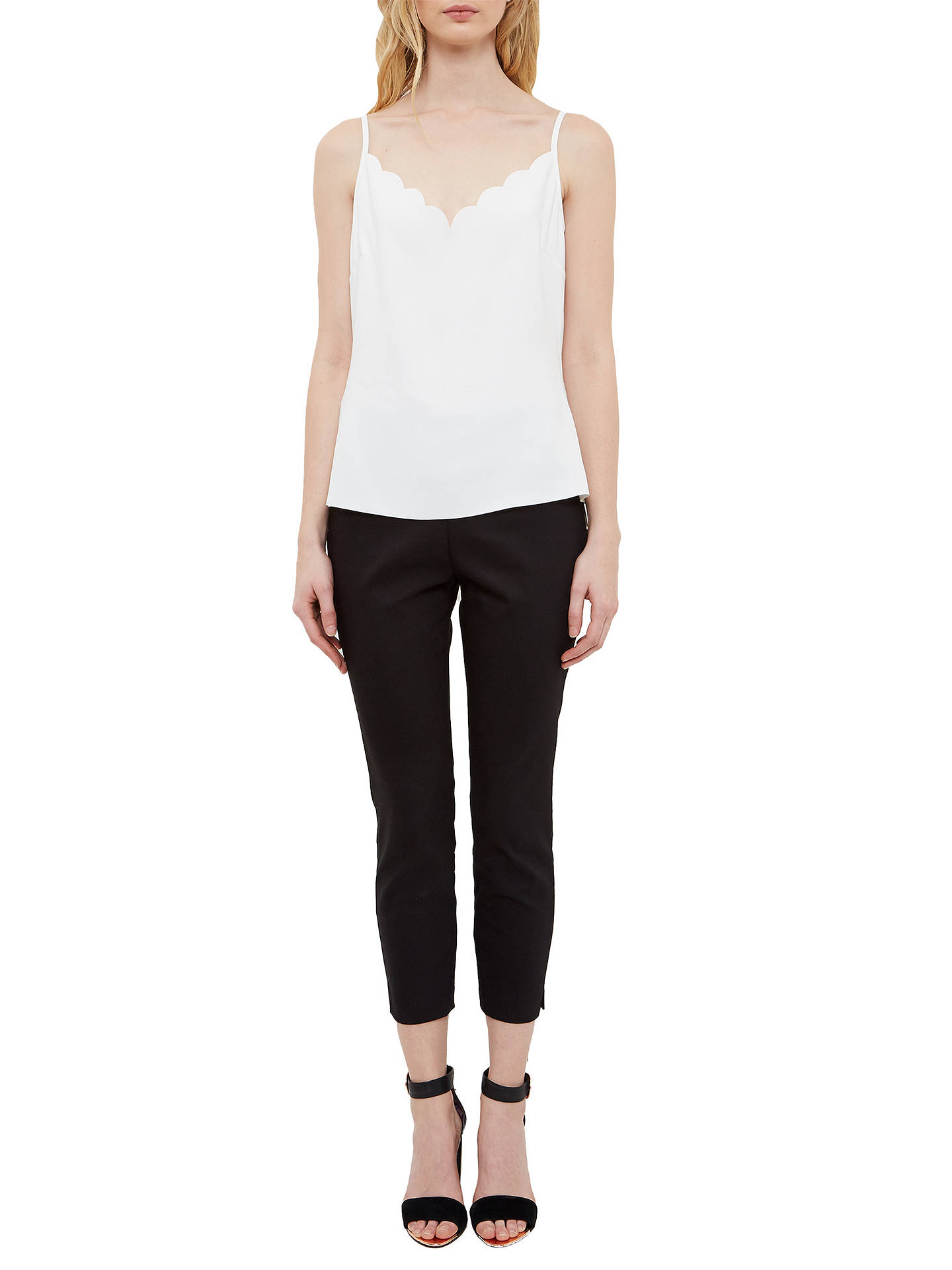 Buy Ted Baker Siina Scallop Neckline Camisole Top, Ivory White, S Online at johnlewis.com