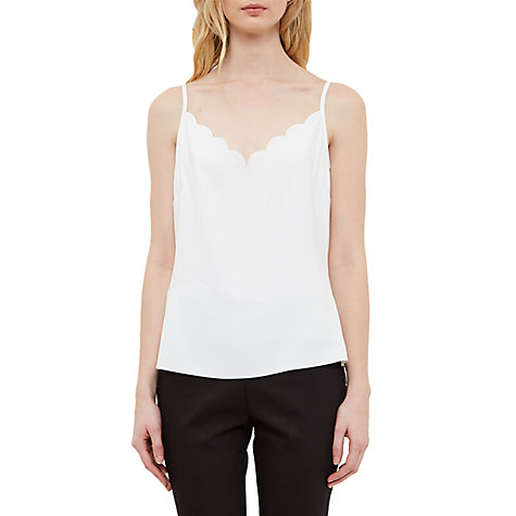Buy Ted Baker Siina Scallop Neckline Camisole Top Online at johnlewis.com