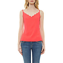 Buy Ted Baker Siina Scallop Neckline Cami Top, Mid Orange Online at johnlewis.com