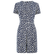 Buy Warehouse Box Pleat Animal Print Dress, Multi Online at johnlewis.com