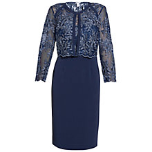 Buy Gina Bacconi Embroidered Bodice Dress And Jacket, Navy Online at johnlewis.com