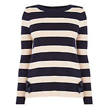 Buy Oasis Bow Hem Knit, Navy Online at johnlewis.com