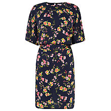 Buy Warehouse Spaced Sydney Floral Dress, Navy/Multi Online at johnlewis.com