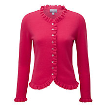 Buy Pure Collection Ruffle Edge Cardigan Online at johnlewis.com