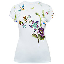 Buy Ted Baker Marlin Spring Meadow Fitted T-Shirt, Pale Blue Online at johnlewis.com