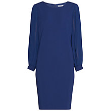 Buy Gina Bacconi Crepe Dress With Pleated Chiffon Sleeves Online at johnlewis.com