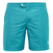Buy Ted Baker Pinox Oxford Swim Shorts, Teal Online at johnlewis.com