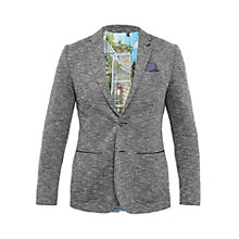 Buy Ted Baker Italy Textured Jersey Blazer, Charcoal Online at johnlewis.com