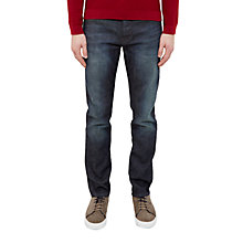Buy Ted Baker Sulph Straight Fit Jeans, Dark Wash Online at johnlewis.com