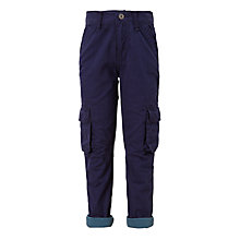Buy John Lewis Boys' Lined Combat Trousers, Navy Online at johnlewis.com