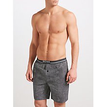 Buy BOSS Urban Woven Cotton Dot Lounge Shorts, Navy/White Online at johnlewis.com