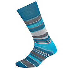 Buy BOSS Single Stripe Socks, Blue/Grey Online at johnlewis.com