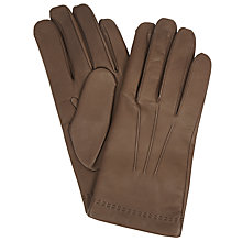 Buy Mulberry Soft Nappa Leather Gloves, Brown Online at johnlewis.com