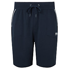Buy BOSS Contrast Piping Jersey Shorts, Charcoal/Teal Online at johnlewis.com