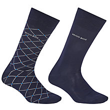 Buy BOSS Mercerised Diamond Socks, Pack of 2 Online at johnlewis.com