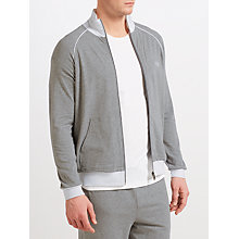 Buy BOSS Contrast Detail Full Zip Lounge Jacket, Grey Online at johnlewis.com