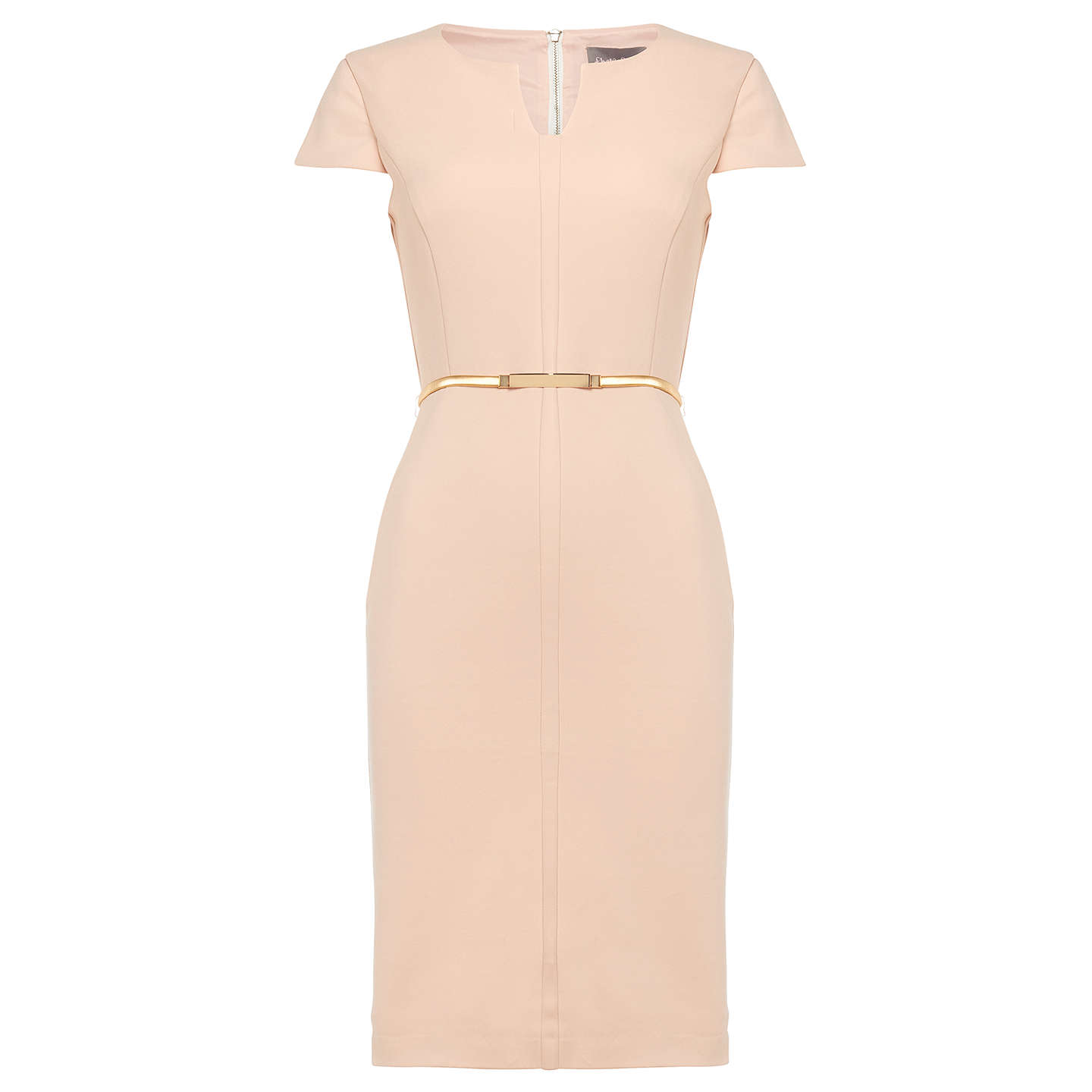 BuyPhase Eight Morgan Belted Dress, Cameo, 8 Online at johnlewis.com
