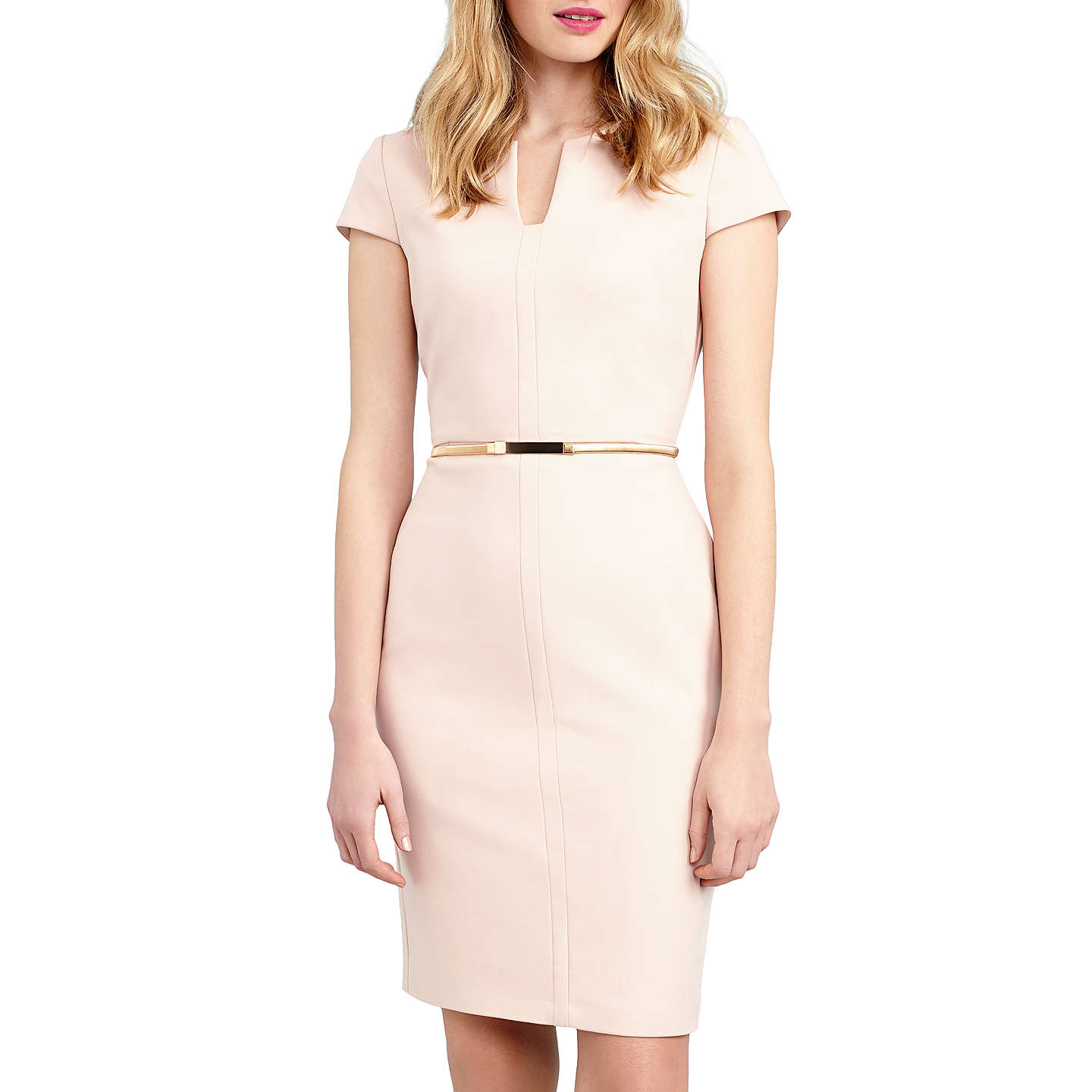 BuyPhase Eight Morgan Belted Dress, Cameo, 14 Online at johnlewis.com