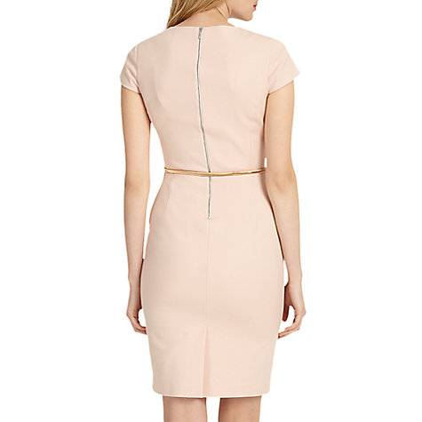 Buy Phase Eight Morgan Belted Dress, Cameo Online at johnlewis.com