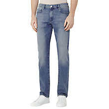 Buy Reiss Watergate Washed Slim Fit Stretch Jeans, Mid Blue Online at johnlewis.com