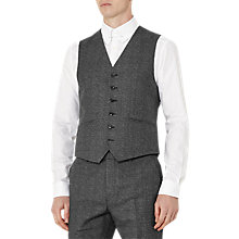 Buy Reiss Host Salt and Pepper Modern Fit Waistcoat, Charcoal Online at johnlewis.com