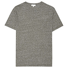 Buy Reiss Barnington Flecked Crew Neck T-Shirt, Green Online at johnlewis.com