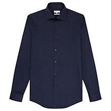 Buy Reiss Zinc Slim Fit Stretch Shirt, Navy Online at johnlewis.com