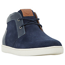 Buy Dune Sebastian Suede Hi-Top Trainers, Navy Online at johnlewis.com