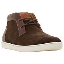 Buy Dune Sebastian Suede Hi-Top Trainers, Brown Online at johnlewis.com