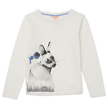 Buy Jigsaw Girls' Bella Bunny Placement T-Shirt, Ivory Online at johnlewis.com