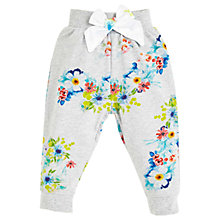 Buy Angel & Rocket Baby Floral Joggers, Grey Online at johnlewis.com