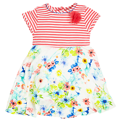 Product photo of Angel rocket baby stripe floral dress red multi
