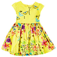 Buy Angel & Rocket Girls' Printed Puff Ball Hem Dress, Yellow Online at johnlewis.com