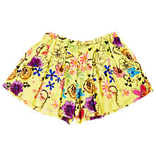 Buy Angel & Rocket Girls' Printed Swing Shorts, Yellow Online at johnlewis.com