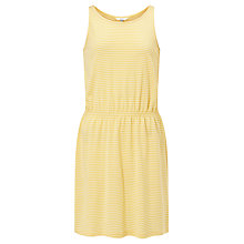 Buy John Lewis Children's Narrow Stripe Dress, Yellow Online at johnlewis.com