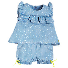 Buy Angel & Rocket Baby Spot Blouse and Shorts Set, Blue Online at johnlewis.com
