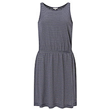 Buy John Lewis Children's Narrow Stripe Jersey Dress, Navy Online at johnlewis.com