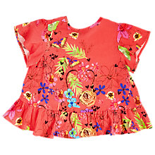 Buy Angel & Rocket Girls' Ruffle Cross Back Top, Orange Online at johnlewis.com
