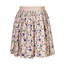 Buy John Lewis Girls' Floral Print Skirt, Cameo Rose Online at johnlewis.com
