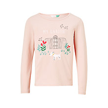 Buy John Lewis Girls' My Garden T-Shirt, Cameo Pink Online at johnlewis.com