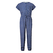 Buy John Lewis Girls' Tile Print Jumpsuit, Blue Online at johnlewis.com