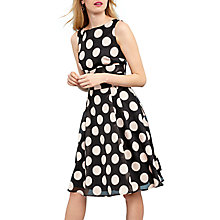 Buy Phase Eight Hayley Spot Dress, Black/Cameo Online at johnlewis.com