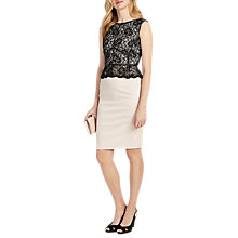 Buy Phase Eight Hannah Lace Bodice Dress, Black/Oyster Online at johnlewis.com