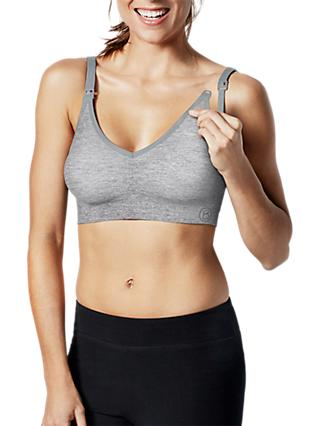 Bravado Body Silk Seamless Yoga Nursing Bra, Dove Heather