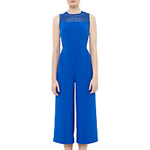 Buy Ted Baker Realo Lace Panel Culotte Jumpsuit, Mid Blue Online at johnlewis.com