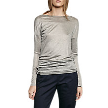 Buy French Connection Miro Mercerised Jersey Top Online at johnlewis.com